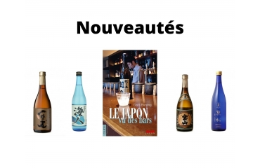 Nouveaux produits à découvrir dans le shop : saké, shochu et livre sur les alcools japonais
